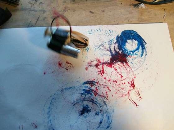 Vibrobot painting