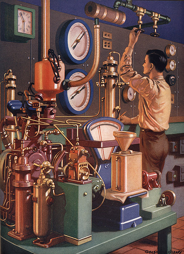 Vintage science and tech illustrations