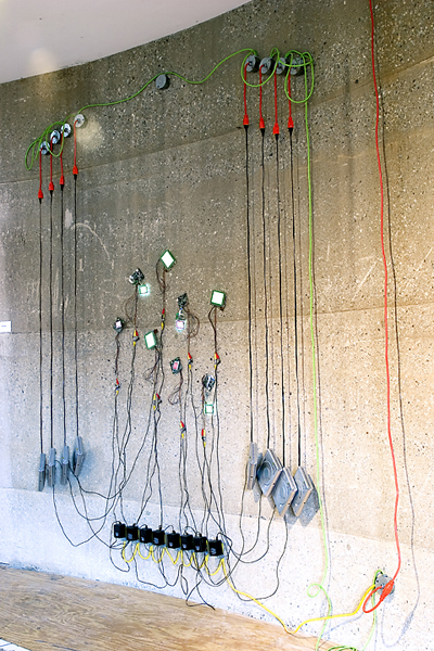 Video installation turns extension cords into drawings