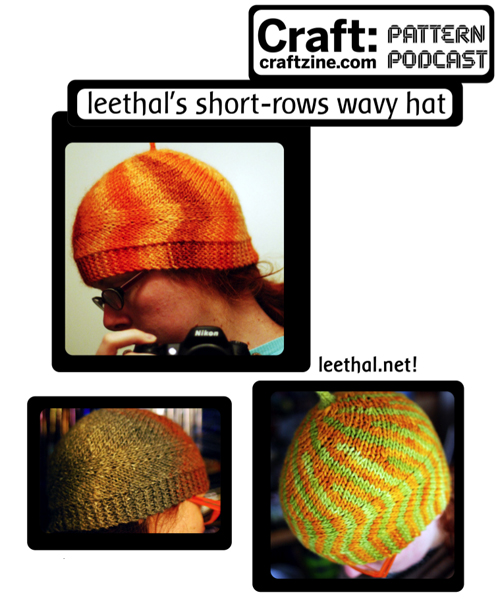 Leethal's Short-Rows Wavy Hat – CRAFT Pattern Podcast