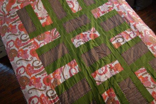 Curious Bird's Wedding Quilt