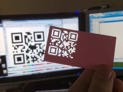 Cutout QR code