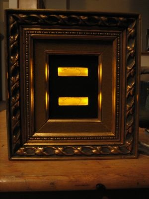 Illuminated frame helps you catch your train