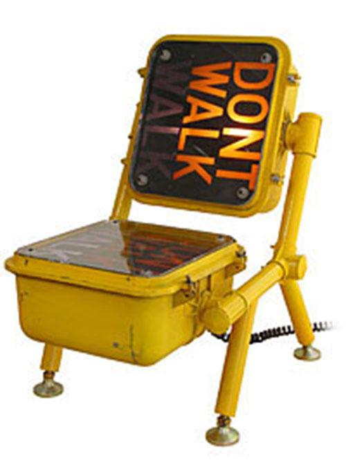 Walk – Don't Walk chair