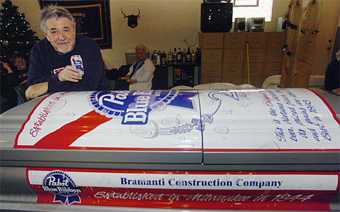 Beer can coffin gets you drunk before the big sleep
