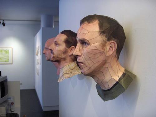 Paper Portraits by Bert Simon