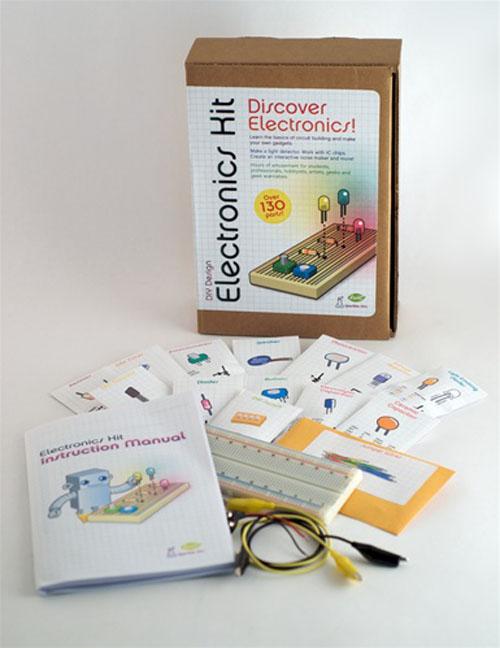New in the Maker Shed –  DIY Design Electronics Kit