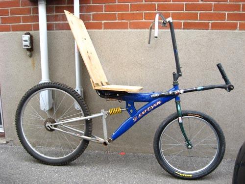 Build an inexpensive recumbent bike