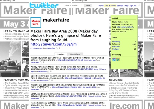 Follow Maker Faire on Twitter