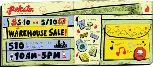Poketo Warehouse Party & Sale