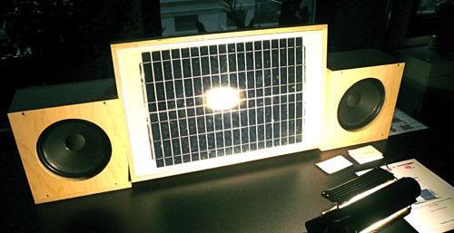 Solar-powered sound system