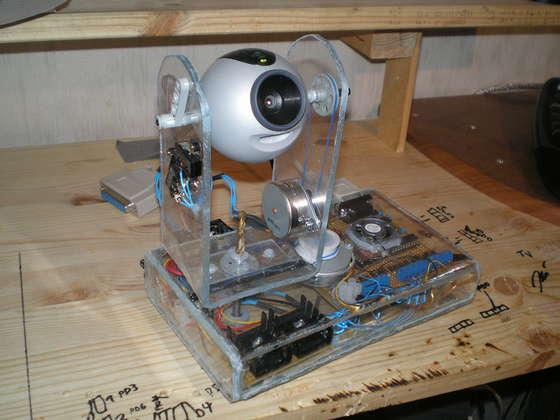 Web-controlled surveillance camera