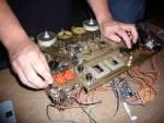 Audio sampler/mixer built from old tape reel machine