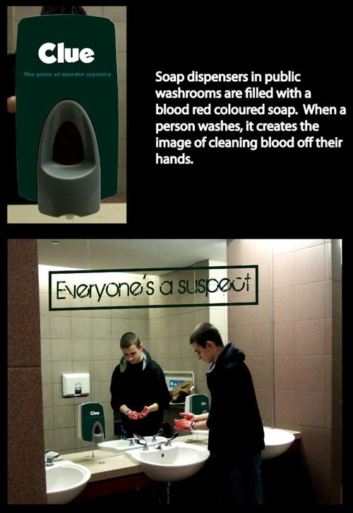 Clue: Blood soap dispenser