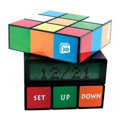 Rubix cube alarm clock won't make you late