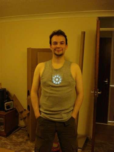 Iron Man mask and Arc Reactor