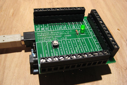 Arduino breakout shield from RepRap