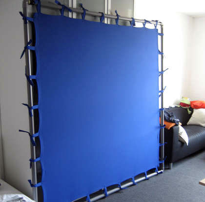 HOW TO – DIY chromakey screen with ties