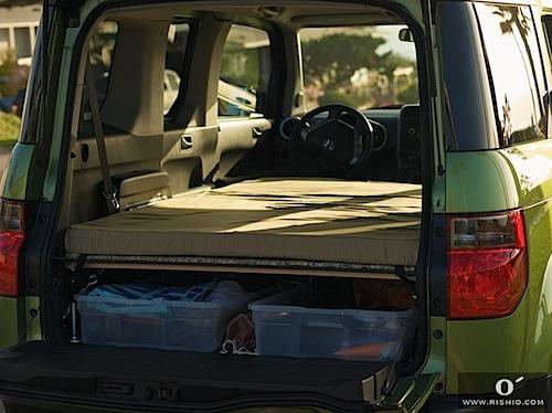 Honda Element bed promotes good night's rest