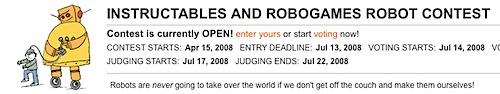 Instructable robot contest extended deadline