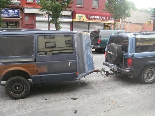 Former minivan makes new trailer