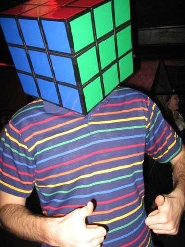 Rubik's Cube costume hat