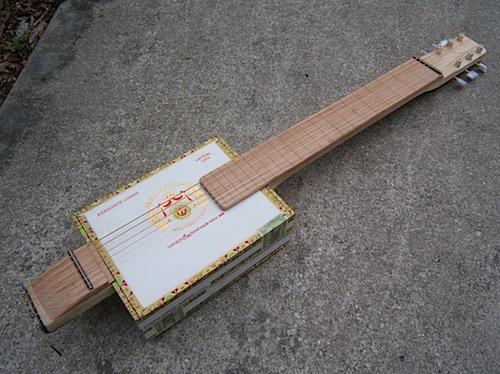 Sophisticated cigar box guitar