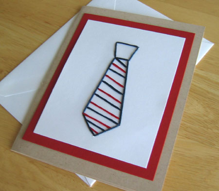 Father's Day Tie Stitched Card Pattern