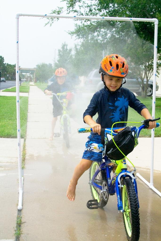 PVC Sprinkler = Summertime Fun