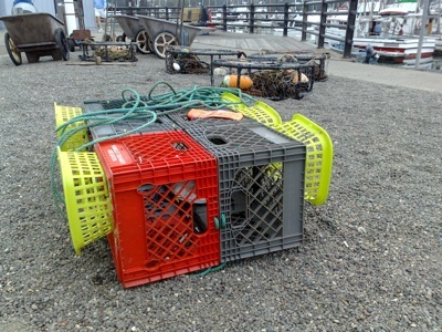 Milk-crate crab pots