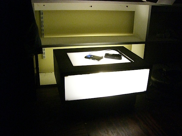 Glowing night stand charging station