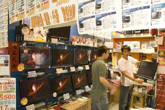Haggling for Asian electronics