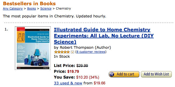 Illustrated Guide to Home Chemistry Experiments #1 in Chemistry on Amazon