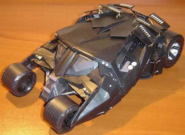 Make your own paper-craft Batmobile