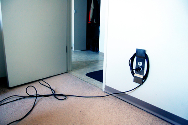 Wrap your cords up before someone trips on them