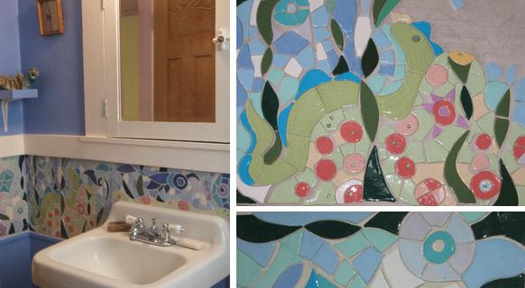 Planet Kri Kri's Bathroom Mosaic