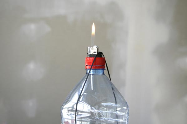 Bottle cap lighter mod will probably not score you points