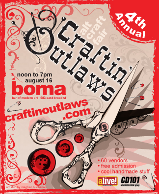 Craftin' Outlaws in Columbus, OH this Saturday, August 16