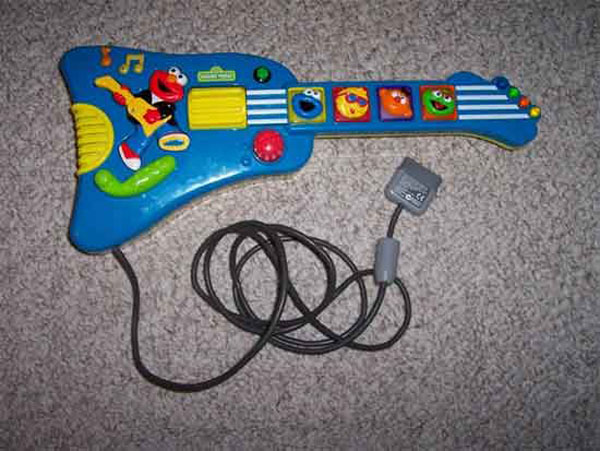 Elmo guitar hero mod lets kids rock with the best of them