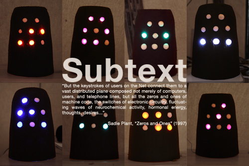 Subtext visualizes network protocols through sequenced lights