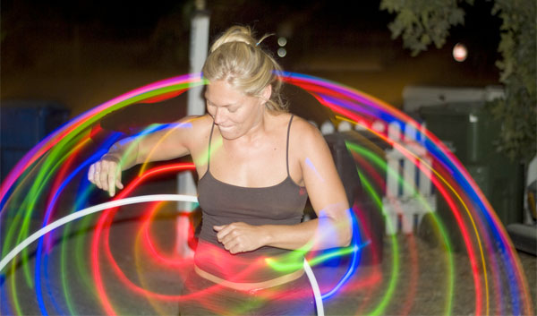 LED hula in action