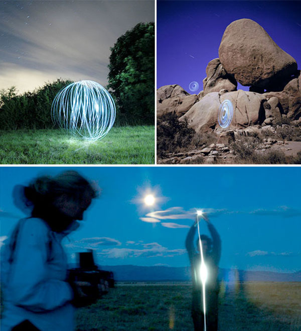 Striking images drawn with light