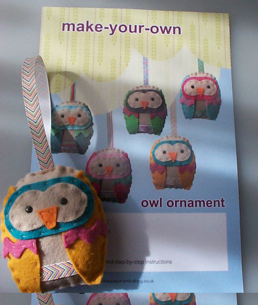 Paper and String's Make-Your-Own Owl Kits