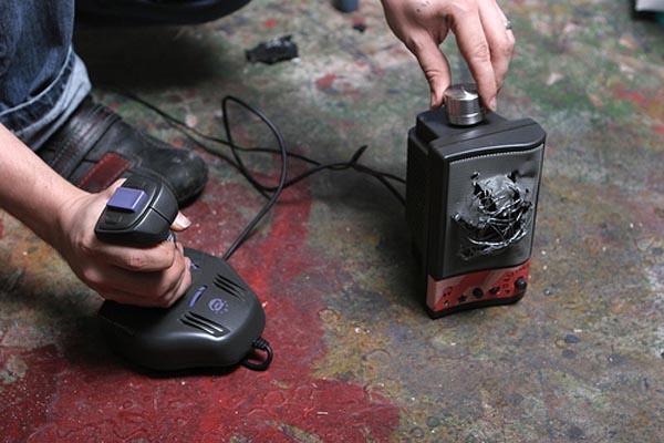 Transform old console joysticks into sound machines