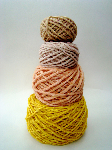Vickie Howell's Natural Yarn Dyeing Experiments