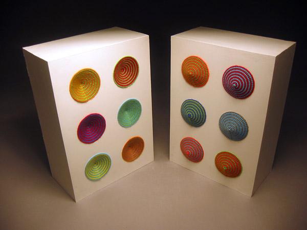 Oscillator cabinets turn yarn into sound