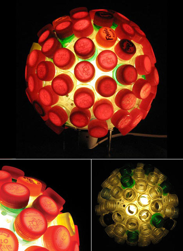 Bottlecap lamp will impress your friends and save the planet