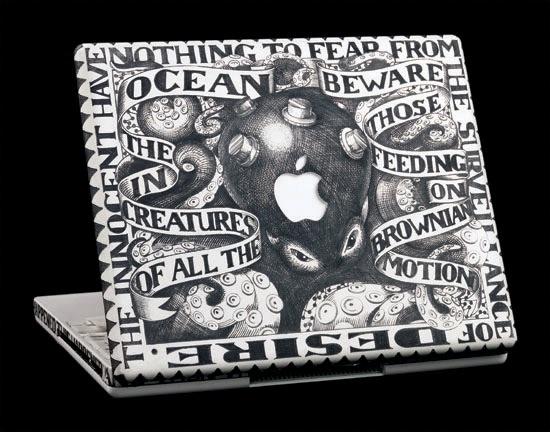 Michael Dinges' engraved laptops