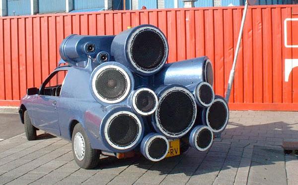 Street blasting speaker-mobile