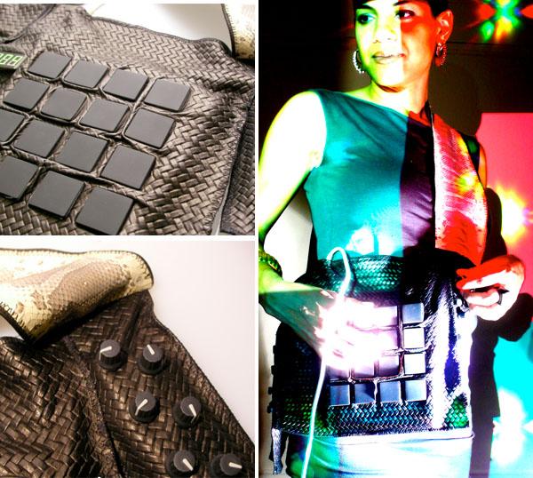Leather & snakeskin MIDI controller wearable